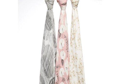 Aden & Anais Aden & Anais Swaddles Pretty Petals 3-Pack