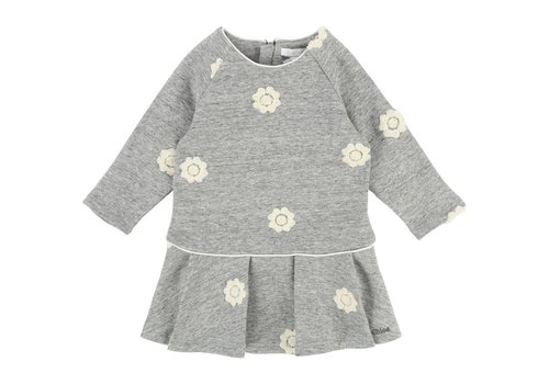 Chloe Chloe Dress Grey Flowers