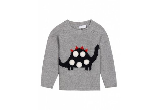 Il Gufo Il Gufo Sweater Dino Grey - Blue
