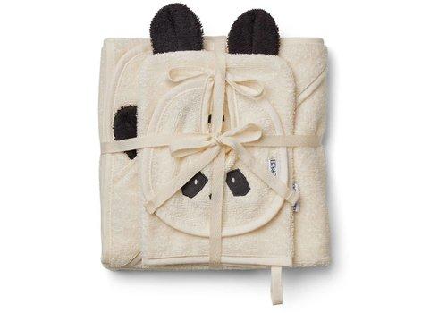 Liewood Liewood Baby Cadeau - Slab - Washand - Badcape Panda