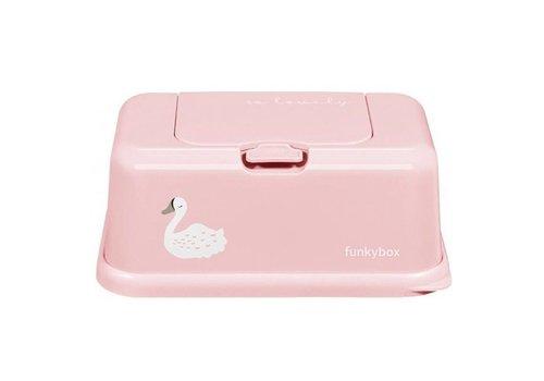 Funkybox Funkybox Baby Wipes Box Pink Swan