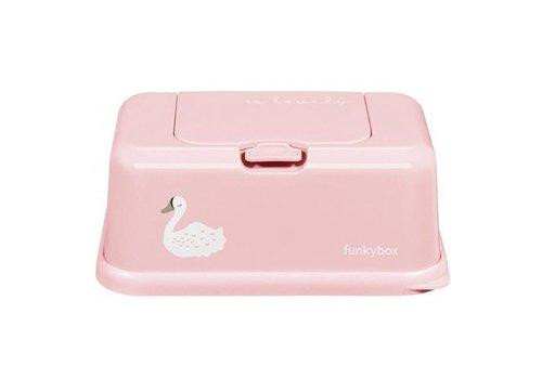 Funkybox Funkybox Baby Wipes Holder Pink Swan