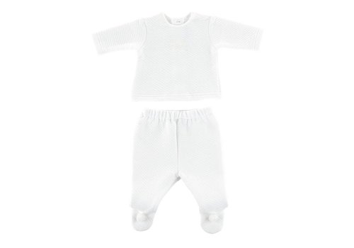 Theophile & Patachou Theophile & Patachou Bloes Jersey BB + Broek Wit