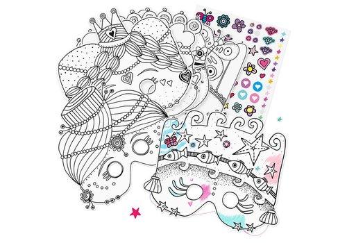 Label'tour Label'tour Paper Masks Coloring Princess 6 Pieces