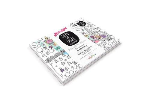 Label'tour Label'tour Placemats Colorize 24 Pieces Princesses