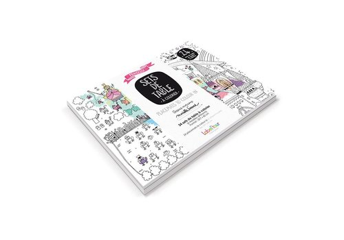 Label'tour Label'tour Placemats Inkleuren 24 Stuks Prinsessen