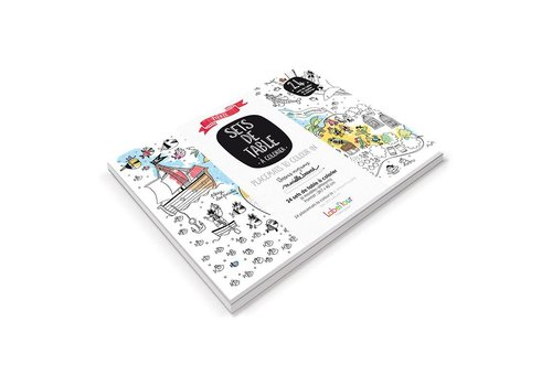Label'tour Label'tour Placemats Colorize 24 Pieces Pirates