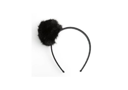 Prinsessefin Prinsessefin Haarband With Fur Black