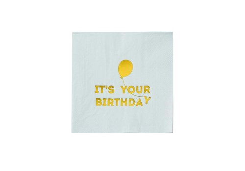 Talking Tables Talking Tables Servetten 'It's Your Birthday' 16 Stuks Blauw