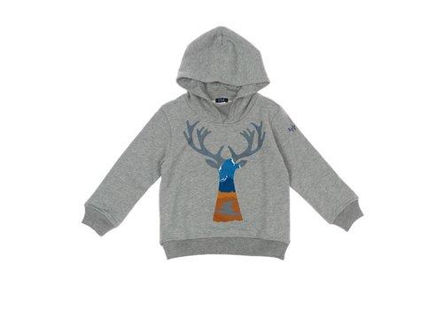 Il Gufo Il Gufo Sweater Deer Grijs Cinnamon
