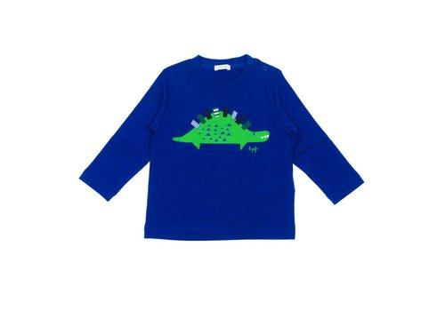 Il Gufo Il Gufo T-Shirt L/S Bluette - Green Dino