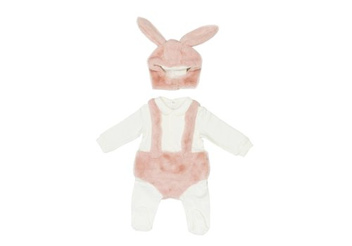 Il Gufo Il Gufo Body Vest With Feet Milk - Pink