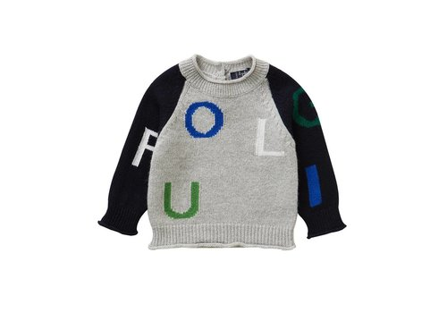 Il Gufo Il Gufo Sweater Cloud Grey/Navy Blue