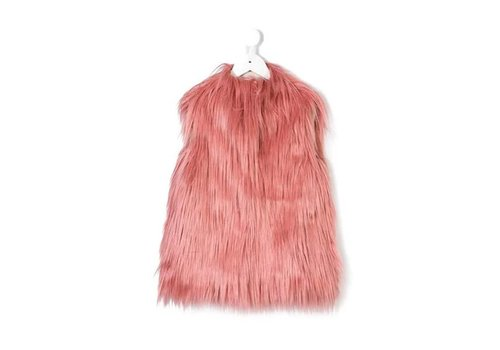 Il Gufo Il Gufo Gilet Fluffy Pink