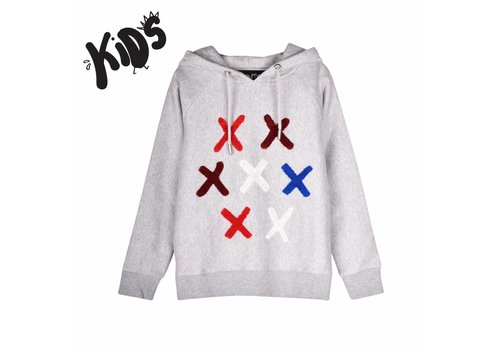 SVNTY SVNTY Sweater Hoodie Cross Grijs