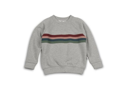 Cos I Said So Cos I Said So Sweater Heather Grey Varsity Stripes
