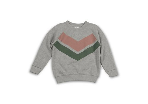 Cos I Said So Cos I Said So Sweater Heather Grey Chevron