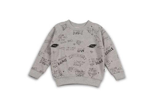 Cos I Said So Cos I Said So Sweater Heather Grey Allover Print Follow The Call Of The Disco Ball