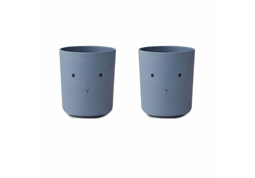 Liewood Copy of Liewood Beker Bamboo Cat Dusty Mint 2 Pack