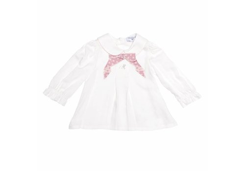 Monnalisa Monnalisa Shirt White - Blue Bow