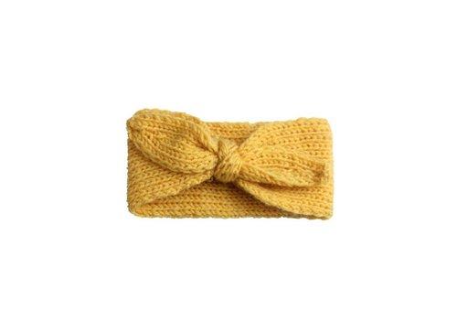 Cos I Said So Cos I Said So Haarband Crochet Bow Geel