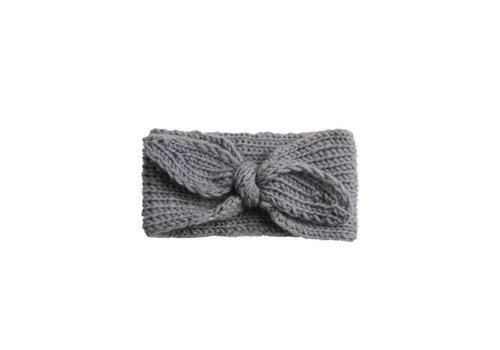 Cos I Said So Cos I Said So Headband Crochet Bow Grey