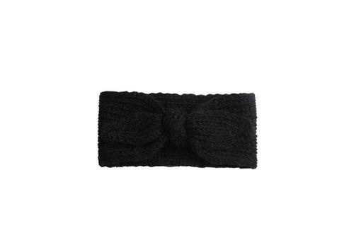 Cos I Said So Cos I Said So Haarband Crochet Bow Zwart