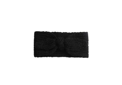 Cos I Said So Cos I Said So Headband Crochet Bow Black
