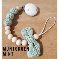 MiniM Pacifier Clip Bow + Name