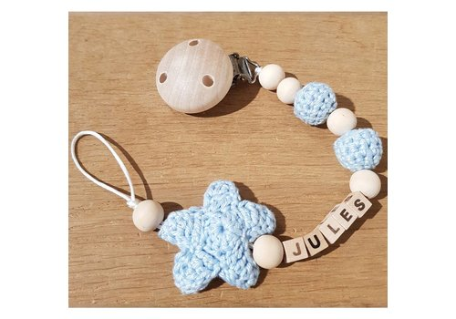 MiniM MiniM Pacifier Clip Star + Name