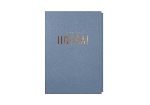 Papette Papette Wenskaart Hieperdepiep Hoera + Envelop