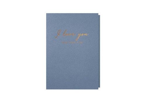 Papette Papette Wenskaart I Love You + Envelop