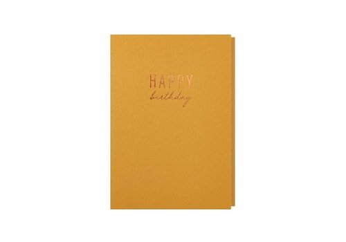 Papette Papette Wenskaart Happy Birthday + Envelop