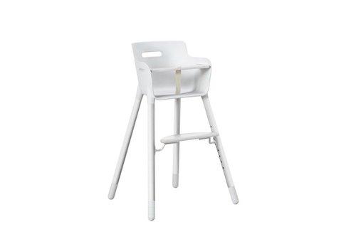 Flexa Flexa High Chair With Bumper And Belt White
