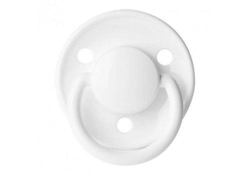 BIBS Bibs Fopspeen Silicone De Luxe White 6 - 18M