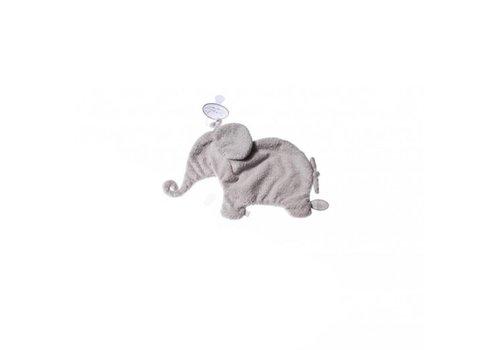 Dimpel Dimpel Cuddle Cloth Pacifier Elephant Tuttie Light Grey