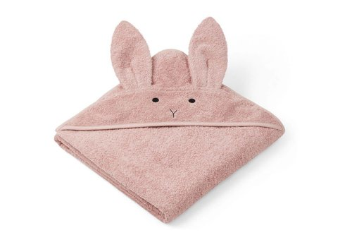 Liewood Liewood Hooded Towel Rabbit Pink