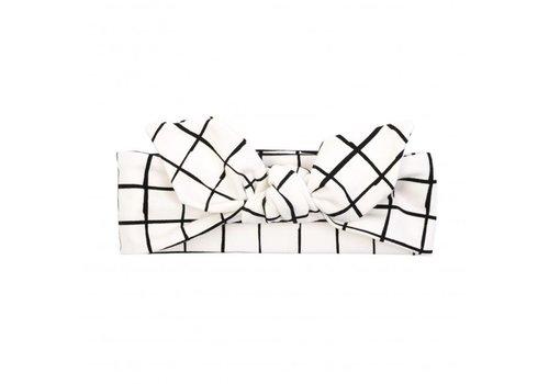 UL&Ka UL&Ka Headband White With Check