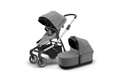 Thule Thule Sleek Kinderwagen + Bassinet Grey Melange
