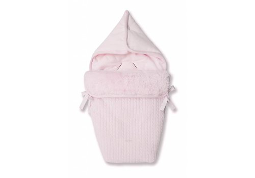 First First Baby Nest Wool & Cashmere Pink