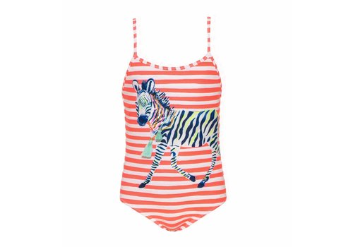 Sunuva Sunuva Swimsuit Zebra Coral Stripes