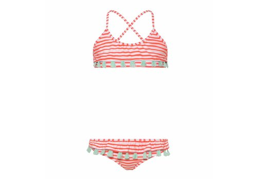 Sunuva Sunuva Bikini Frill Hot Coral