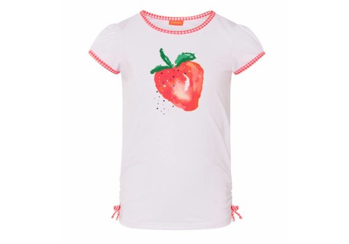 Sunuva Sunuva UV T-Shirt Wit Strawberry