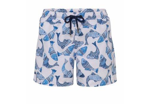 Sunuva Sunuva Zwemshort Fish Blue