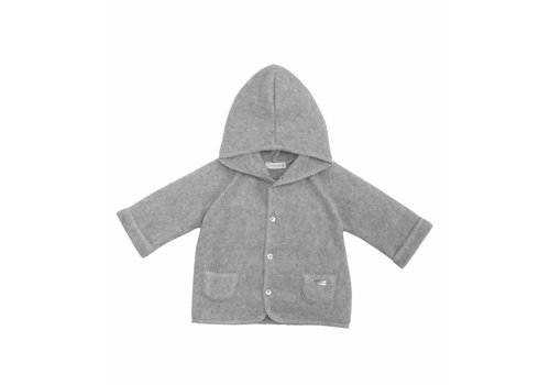 Laranjinha Laranjinha Hooded Cardigan Light Grey