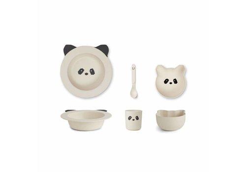 Liewood Liewood Eetset Baby Bamboo Panda Creme De La Creme