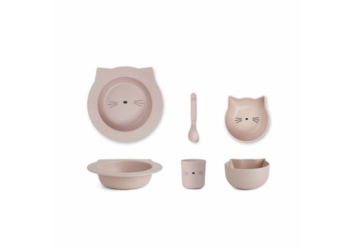 Liewood Liewood Tableware Baby Bamboo Cat Rose