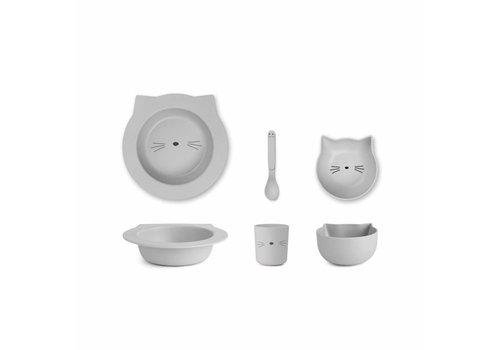 Liewood Liewood Tableware Baby Bamboo Cat Dumbo Grey