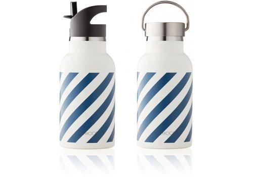 Liewood Liewood Anker Water Bottle Stripe Navy