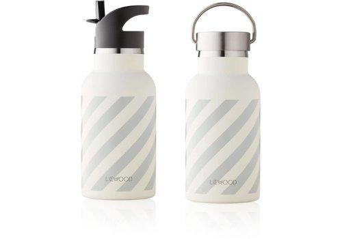 Liewood Liewood Anker Water Bottle Stripe Dumbo Grey